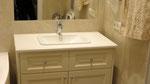 Столешница в ванную комнату. Кварцевый агломерат Самсунг