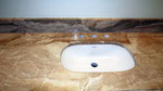 Мраморная столешница в ванную комнату. Мрамор Дайна Реале. Мойка подстольного монтажа. +7-9152396597