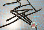 Bänder in der Länge von 6 cm zuschneiden