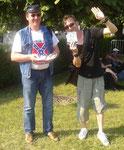 """Distribution de flyers avec Joffray Allart (BLACK COFFEE) au Concert de """"l'été du Conseil Général de l'Aisne le 07 07 2013 à Laon"""""""