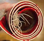 縁の糸が無くなっているので巻き直します。