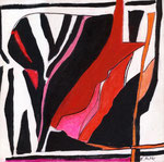 Le rouge et le noir (30 cm x 30 cm)