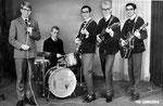 THE CONCORDS 1964 vlnr: Bram de Croo - Arnold Vanhijfte - Danny Benjaminsz - Wim Philipsen - Diederick Benjaminsz