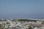 大嶽頂上から西側、首里城を望む