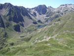 Lac d'Ilehou vu du chemin des crètes