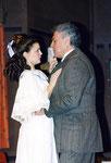 """1997/98  Delphine in """"Das Konzert"""" mit Erwin Strahl"""