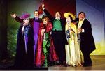 """2003 in """"Gewürzkrämerkleeblatt"""" mit Rainer Stelzig, Elfriede Ott, Toni Nekovar, Sabine Staudacher, Gerhard Ernst"""