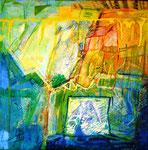 """""""    """", AUS DER FOLGE """"VERWALTUNG DER ELEMENTE"""": GUTER GEDANKE"""", 0,50 x 0,50m, 2003"""