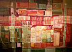 """SCHLOSSGARTEN"", MISCHTECHNIK, 0,50m x 0,70m, 2005"