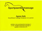 Agnes Kalk Paardenmassage Groningen