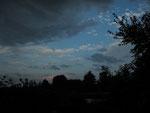 Tieffliegende Schauerwolken (Foto: Wolfgang Voigt)