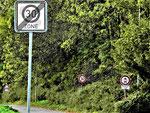 30er-Zone zwischen Ofden und Schleibach (Foto: Wolfgang Voigt)