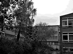 Leergeräumtes Gymnasium - fertig für den Abriss (Oktober 2017)
