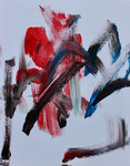 """Der rote Samurai"", 50x40, Acryl"