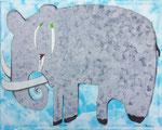 Elefantenbulle, bearbeitet für den Druck