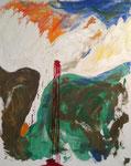 """Opfer"", Acryl gespachtelt auf Keilrahmen, 100x80"