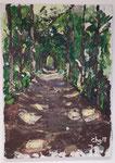 """""""Praterweg"""", Acryl gespachtelt, Keilrahmen,  70x50"""