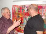Fritz Stockinger erklärt abstrakte Kunst, Bild: Christine Kassl