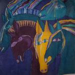 """""""Pferdetuch"""", Seidenmalerei (Carolin Krejci)"""