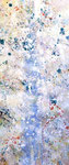 "early spring  2011 21""x9""  acrylic on canvas"