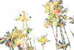 """Eternal Light-Towanohikari IR 2019 24""""x36"""" oil and acrylic on canvas"""