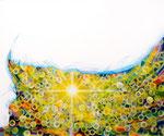 """Eternal Light-Towanohikari W 2016  20""""x24""""  oil and acrylic on canvas"""