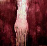 "hatsune ~ 初音〜 2005  53""x 53"" acrylic on canvas"