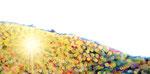 """Eternal Light-Towanohikari O 2015  20""""x40""""  oil and acrylic on canvas"""