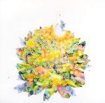 """Eternal Light-Towanohikari D 2018  30""""x30""""  oil and acrylic on canvas"""