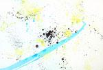 "Summer 2016 13""x19"" Acrylic on Japanese paper"