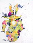 "Eternal Light-Towanohikari IR 2019  10""x8""  mixed media on canvas"