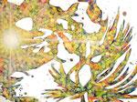 """Eternal Light-Towanohikari C  2016  30""""x40""""  oil and acrylic on canvas"""