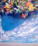 "2 skies 2006  28.5"" x 24""  oil on panel board"