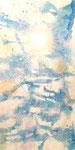 "when spring calls summer  2012  36""x18"" acrylic on canvas"