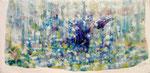 """rain delight   2011  6""""x12"""" acrylic on canvas"""