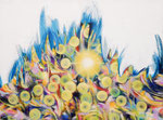 """Towanohikari G 2016  11""""x14""""  oil and acrylic on canvas"""