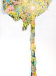 """Towanohikari R 2017  40""""x30""""  oil and acrylic on canvas"""