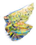 """Towanohikari L 2017  20""""x16""""  oil and acrylic on canvas"""