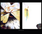 "pleasure & sorrow  2006  13""x 9.5"" oil on canvas"