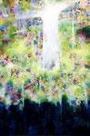 """spring sky 2011  15""""x10"""" acrylic on canvas"""