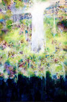 "spring sky 2011  15""x10"" acrylic on canvas  sold"