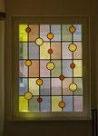Übernehme Bleiglas in neues Fenster