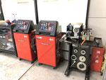 R134&R1234ガスオペ機とディスクレーサーです。