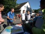 Tourstart: Herr Adenauer mit Udo und Ralf