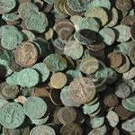 Lot de monnaies romaines ; Namur, coll. Société archéologique de Namur