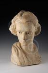 Tête de femme, plâtre de Paule Bisman, coll. privée