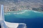 Abflug nach Big Island - Hawaii, Blick auf Honolulu und Waikiki
