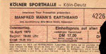 Ticket Stub - Koellner Sporthalle Cologne 16-4-79