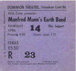 Ticket Stub - Dominion Theatre London UK 14-4-83