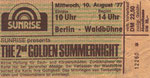 Ticket Stub - Waldbuhne Berlin 2nd golden summernight 10-8-77